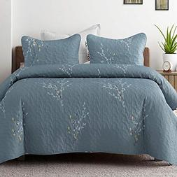 Exclusivo Mezcla Microfiber King Size Quilt Set, 3 Piece Lig