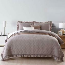 NEWLAKE Microfiber Quilt Bedspread Reversible Coverlet Set w
