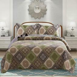 Newlake Microfiber Quilt Bedspread Reversible Coverlet Sets,