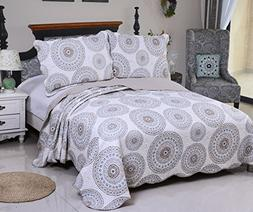 Microfiber quilt sets queen size) -3pcs include 2 pillow Sha