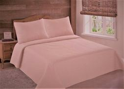 MIDWEST NENA SOLID CLOSEOUT QUILT BEDDING BEDSPREAD COVERLET