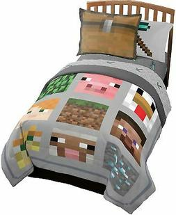 Minecraft Full/Queen Quilt and Shams and Queen Sheet Set , b