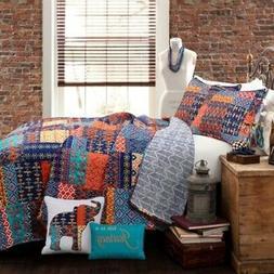 Lush Decor Misha 5-Pc Quilt Set - Multi - Size: Full/Queen