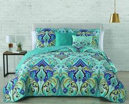 Avondale Manor Misha Quilt Set, Queen, Mint