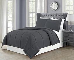 Mk Collection 3pc Full/Queen Down Alternative Comforter Set