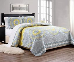 MK Home Mk Collection 3pc King/California King Bedspread Qui