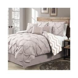 Modern Reversible 7-piece Color Options Comforter Bedding Se