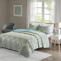 Comfort Spaces - Mona Cotton Mini Quilt Set - 3 Piece - Pais