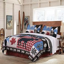 Greenland Home Mountain Trail Quilt Set, 3-Piece, King
