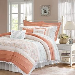 Madison Park MP12-2796 Dawn 9 Piece Cotton Percale Duvet Cov