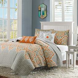 Madison Park Nisha King/Cal King Size Quilt Bedding Set - Gr