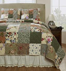 Be-You-tiful Home Naomi Patchwork Quilt Set, Queen, Multicol