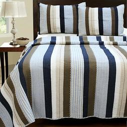 Nathan 100% COTTON Quilt Set, Bedspread, Coverlet
