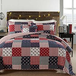 Brandream Nautical Bedding Set Ocean Themed Patchwork Quilt