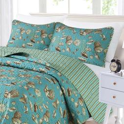 Coastal Nautical QUILT SET FULL/QUEEN SIZE BEDDING BEDSPREAD