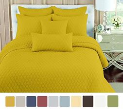 NC Home Fashions Double Ogee embroidered pattern solid color