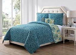 NEW Boho 5-Piece Reversible Quilt Sets King Other Alice - Te