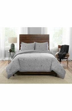 NEW! Pendleton Home SEDONA Comforter & Sham 3 Pc Set Gray KI