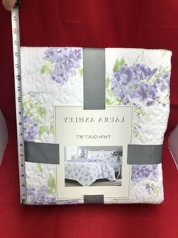 *NEW* Laura Ashley Keighley Twin Quilt Set in Lilac 1 Quilt,