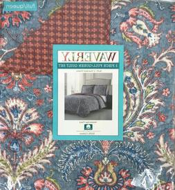 New Waverly Newbridge Place 3 Piece Reversible Quilt Set  Ki