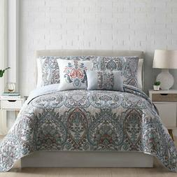 NEW Pacific Coast Reversible Reversible Quilt Set 5 Piece -