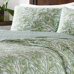 New Tommy Bahama Skippers Sound Green Twin Quilt / Sham 2 pc