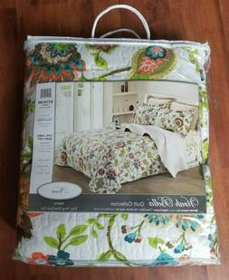 NEW VERY PRETTY VIRAH BELLA 3 PC QUILT SET KING SIZE NORA DQ