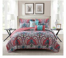 NEW Victoria Classics Casa Real 5-Piece Reversible Quilt Set