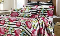 NEW Virah Bella Printed Collection Quilt Set 3-Piece - Corto