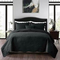 NEWLAKE 3 Piece Quilt Bedspread Coverlet Set,Embossed Coins