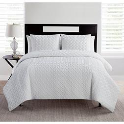 VCNY Home Nina Embossed Geometric 3 Piece Bedding Comforter