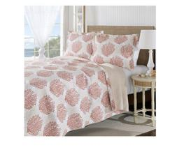 NIP Laura Ashley Coral Coast Reversible Full/Queen Quilt & S