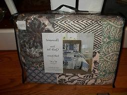 nip patchwork full queen quilt set 3pc