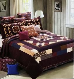 North Star Coffee Bean- 3 Piece Quilt Set - King or Queen Si
