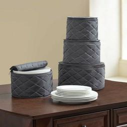 .ORG Quilted 4-Piece Plate Case Set Home Kitchen Fine China