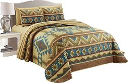 Micasa 7 Piece Oversized Bedspread Quilt Set with Complete S