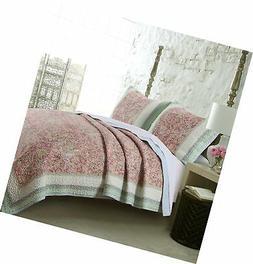 Barefoot Bungalow Palisades Pastel Quilt Set, 3-Piece Full/Q
