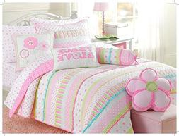 Cozy Line Home Fashions Soft Cotton Bright Greta Pastel Desi