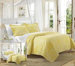 Perfect Home 2 Piece Pastola REVERSIBLE printed Quilt Set. F