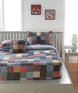Be-you-tiful Home 2 Piece Patchwork Caftan Quilt Set, Twin