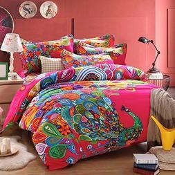 Norson Peacock Print Bedding Set,peacock Feather Bedding Set
