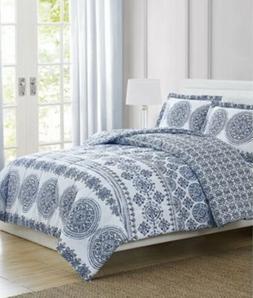 Pem America New 3 Piece Reversible Full/Queen Comforter Set