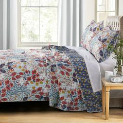 Barefoot Bungalow Perry Quilt Set, King, Slate Blue