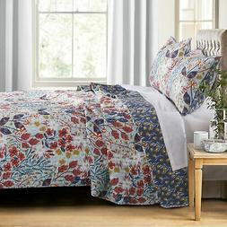 Barefoot Bungalow Perry Reversible Quilt & Pillow Sham Set,