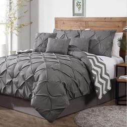 Avondale Manor Pinch Pleat Reversible 7 Piece Comforter Set
