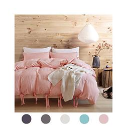 Moreover 3 Pieces Pink Bedding Light Pink Duvet Cover Set Bo