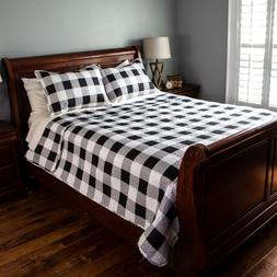 pinsonic quilt set buffalo check design