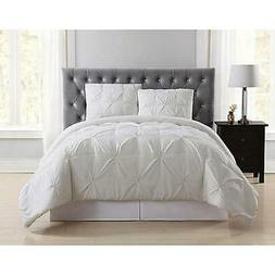 Truly Soft Everyday Pleated Twin XL Duvet Cover Set in Ivory