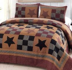 American Hometex Prairie Star King Quilt Set