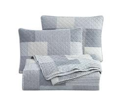 Chezmoi Collection Pre-Washed Quilt Set , Plaid Patchwork Be